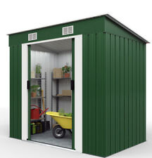 Garden Tool Shed 6x4ft Outdoor Storage Aluminium Base Store Steel