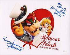 KENNY JAMES~SAMANTHA KELLY Hand-Signed Super Mario Odyssey 11x14 photo JSA COA E