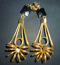 ORECCHINI-EARRING-OHRRINGE di Capim Dourado  swarosky e pietra onice/onyx B17