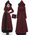 Manteau long gothique lolita victorien baroque corset capuche fourrure Punkrave