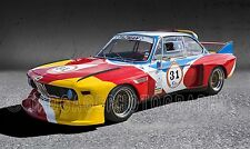 1973 BMW CSL Calder Art at Daytona Vintage Classic Race Car Photo CA-1413