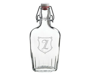 Clear Glass Flask Monogram - Z