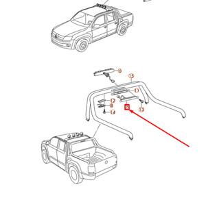 Volkswagen AMAROK Third 3rd Brake Stop Light 2H0945097D NEW GENUINE