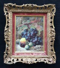 Oliver Clare original oil painting - still life of fruits - grapes
