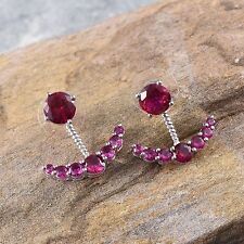 in Platinum Bond Brass R-14 Nib $79.99 Simulated Pink Diamond Earrings