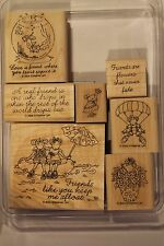 "Stampin Up Favorite Friends set of 7 ""Retired"" Mice, Fish Bowl, Flowers"