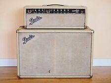1963 Fender Tremolux Blackface Blonde Vintage Piggyback Tube Amplifier Pre-CBS