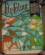 CITY AND COLOUR & concert gig tour poster TORONTO 9-12-12 Avett Brothers Blue