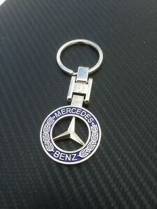 Mercedes Benz Classic Logo Stainless Keyring Key Ring Key Chain Square Joint