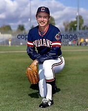Tom Brennan 1981-83 Cleveland Indians TOPPS Color  8x10 B