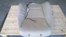 BMW E90 E91 FRONT SEAT COVER BACKREST LEATHER LEFT TAN BEIGE HEATED 52106956381