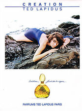 PUBLICITE ADVERTISING 094 1989  TED LAPIDUS  parfum CREATION
