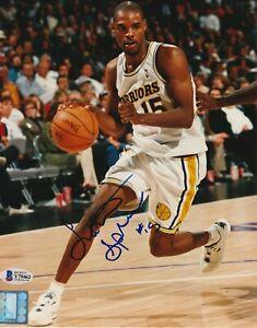 LATRELL SPREWELL Signed Golden State WARRIORS 8x10 PHOTO w/ Beckett COA