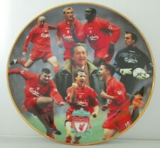 NEW Danbury Mint Liverpool F.C Porcelain Collectors Plate -Treble Winners 2001