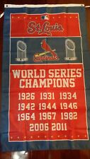St. Louis Cardinals World Series 3x5 Flag.US seller. Free shipping within the US