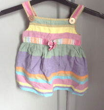 Cotton striped sun dress by Monsoon size 6-12 months