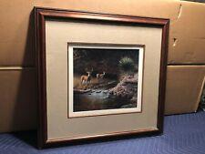 Vintage 1991 Framed & Matted Deer Print