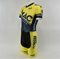 Verge V-Gear MAC Series Leader Men's Short Sleeve Cycling Skinsuit Yellow S New
