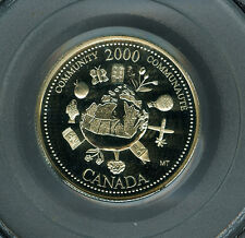 2000 CANADA DEC. 25 CENTS PCGS PR69 ULTRA HEAVY CAMEO FINEST GRADED *
