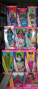 Lot of 11 Barbie Dolls of the World Indian-Mexican-Russian -Artic