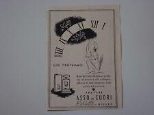 advertising Pubblicità 1941 PROFUMO ASSO DI CUORI BERTELLI