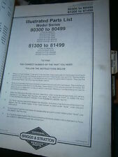 Briggs & Stratton moteur 190700 à 190708 : parts list