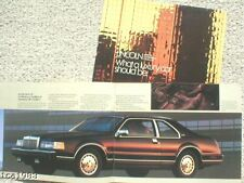 1987 LINCOLN Brochure/Catalog:CONTINENTAL,MARK,TOWN CAR