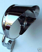 Polished Stainless Steel mirror VISOR ONLY new hot rat rod