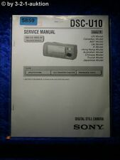 Sony Service Manual DSC U10 Level 1 Digital Still Camera (#5859)