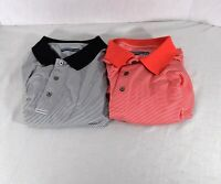 2 Shirt Lot : Roundtree & Yorke Performance Work Play Polo Shirt Mens Size XL