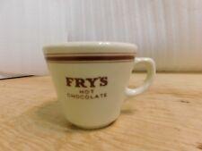 Vintage Fry's Hot Chocolate Cup Mug Hotel Restaurant Ware Grindley