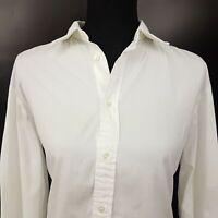 Polo Ralph Lauren Womens Shirt Blouse Size 8 Long Sleeve White Boyfriend Fit