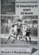 Programm 1996/97 SV Babelsberg - SG Bornim