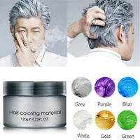 9 Colors Unisex Disposable Hair Color Wax Mud Dye Cream Temporary Modeling DIY