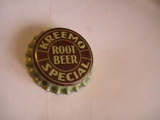 BOTTLE CAP KREEMO ROOT BEER SPECIAL CORK LINED UNUSED
