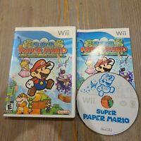 Super Paper Mario (Nintendo Wii, 2007) CIB Complete Video Game
