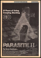 PARASITE II__Original 1983 Trade AD promo / poster__Empire Intl.__Charles Band_2