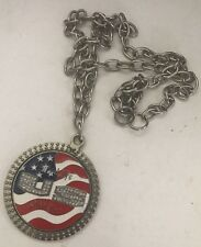 2005 WWE Wrestling Word Life John Cena US Flag Metal Spinner Pendant Medallion