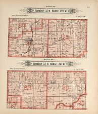 1912 La Clede County plat map Missour old Genealogy history Atlas Land P140