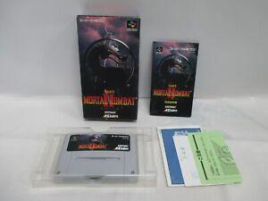 SNES -- MORTAL KOMBAT 2 -- Box. Super famicom, JAPAN Game Nintendo. 14533-1