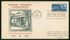 Mayfairstamps US FDC 1968 AR River Navigation Ship Wheel First Day Cover wwr_036