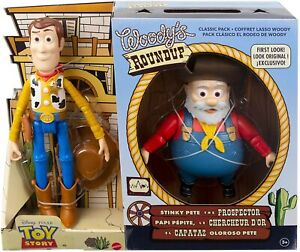 Toy Story Woody's Round with Woody and Stinky Pete the Prospector Action Figure