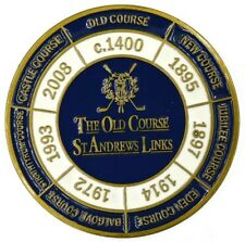 St. ANDREWS Two Sided LARGE FLAT Golf BALL MARKER