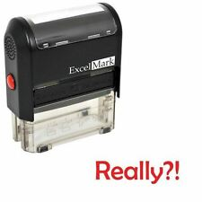 NEW ExcelMark REALLY?! Self Inking Novelty Message Stamp A1539 | Red Ink