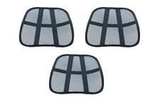 3 pc back lumbar support massage beads cool for car seat  office and home