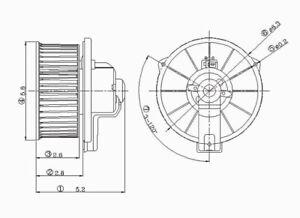 HVAC Blower Motor Front TYC 700039