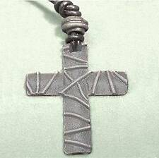 "Cross pendant on cord 2"" long cnn"