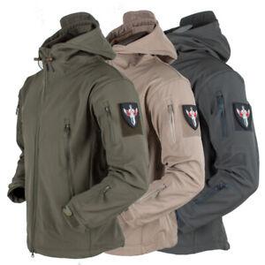 Mens Coat Waterproof Military Jacket warm Winter Hooded Breathable Tactical Coat