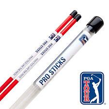 2 PGA TOUR Golf Alignment Sticks - Training Aid Pro Putting Aid Rods + Drills UK