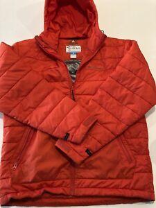 Columbia Men's Puffy Jacket large interchange Omni Heat red full zip and hood